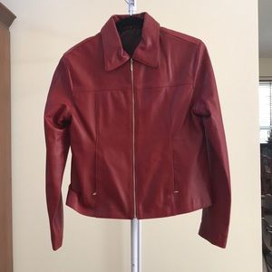 100% REAL LEATHER Red Jacket